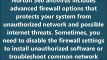 How To Disable Firewall With Norton 360 Antivirus?