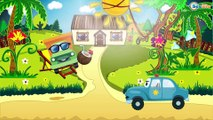 Coche de Policía y Carros de Carreras   Coches infantiles   Dibujo animado   Carritos para niños