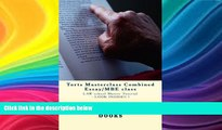 read here  Torts Masterclass Combined Essay/MBE class: LAW school Master Tutorial - LOOK INSIDE!! !