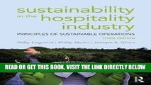 [Free Read] Sustainability in the Hospitality Industry: Principles of sustainable operations Full
