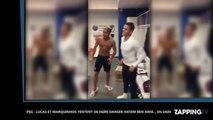PSG : Lucas et Marquinhos tentent de faire danser Hatem Ben Arfa… en vain