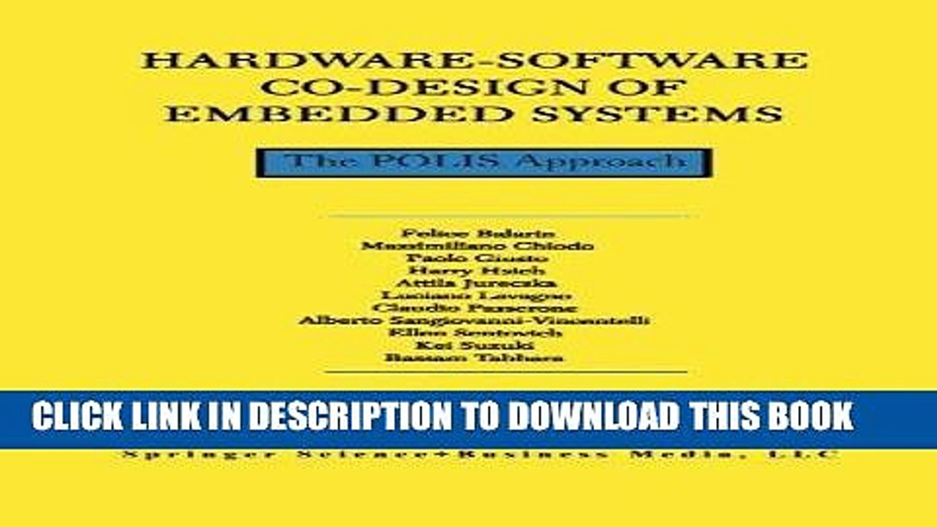 Read Now Hardware Software Co Design Of Embedded Systems The Polis Approach The Springer Video Dailymotion