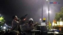 Detik-detik Demonstrasi Ricuh di Depan Istana Merdeka