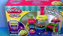 Play Doh Frosting Fun Bakery Set Sweet Shoppe Bake Cupcakes Play-Doh Doceria Má playdough Hasbro