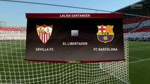 Sevilla FC vs FC Barcelona Fifa 17 Liga Santander Gameplay HD Jornada 11 Simulación previa