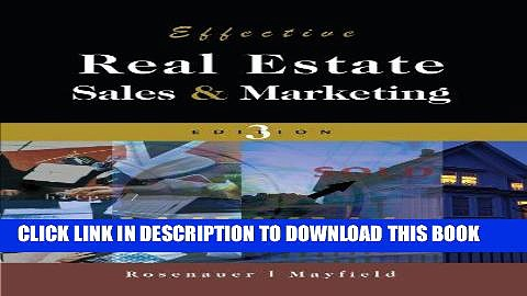 [PDF] Effective Real Estate Sales And Marketing Full Online