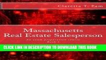 [PDF] Massachusetts Real Estate Salesperson - Book I: An exam preparation course (Real Estate