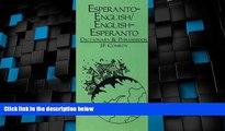 Big Deals  Esperanto-English, English-Esperanto Dictionary and Phrasebook  Best Seller Books Most