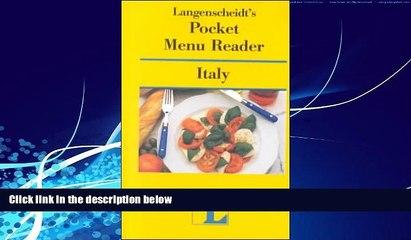 Big Deals  Langenscheidt s Pocket Menu Reader Italy  Full Ebooks Best Seller