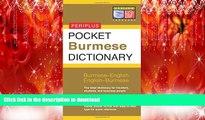 PDF ONLINE Pocket Burmese Dictionary: Burmese-English English-Burmese (Periplus Pocket