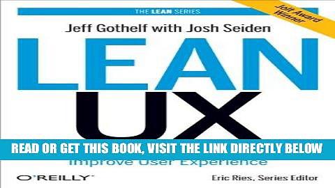 [PDF] Lean UX: Applying Lean Principles to Improve User Experience Popular Online