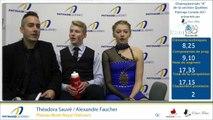 """Championnats """"A"""" de la section Québec 2017 - Glace 4, Novice Danse sur tracé, Junior et Senior Danse courte"""