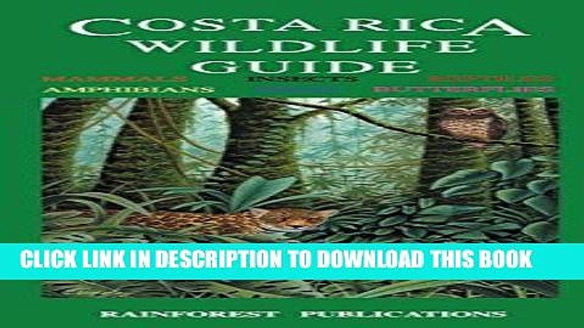 Best Seller Costa Rica Wildlife Guide (Laminated Foldout Pocket Field Guide) (English and Spanish | Godialy.com