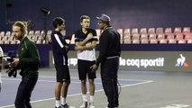 ATP - BNPPM 2016 - Yannick Noah débrief avec Nicolas Mahut et Pierre-Hugues Herbert, pour parler Coupe Davis 2017 ?