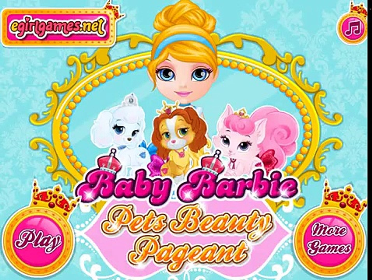 Baby Barbie Pets Beauty Pageant - Games for girls
