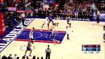 Highlights - Joel Embiid - 22 points, 4 paniers à trois points, 4 contres face aux Cleveland Cavaliers (5/11/2016)