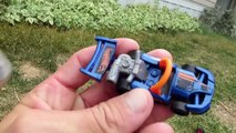 Hot Wheel Cars In The Potty and Toy Crane Fun part1