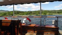 00025 May 2014 On boat at Lake Windermere District the biggest lake in Cumbria unedited video