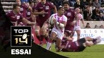 TOP 14 ‐ Essai Jérémy SINZELLE (SFP) – Bordeaux-Bègles-Paris – J10 – Saison 2016/2017
