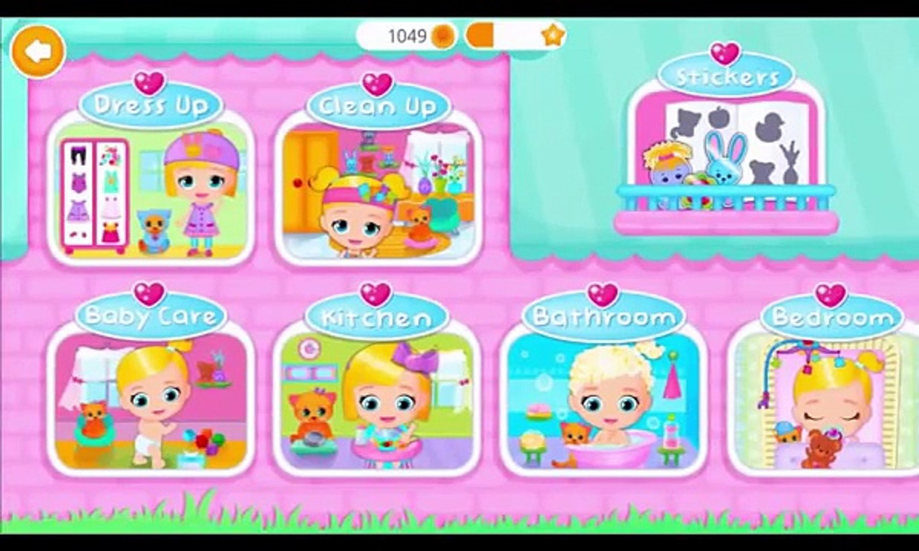 Lily & Kitty Education Funny Games For Kids Newborn Baby Doll House | Kids Games