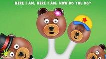 The Finger Family Bear Cake Pop Family Nursery Rhyme   Bear Cake Pop Finger Family Songs