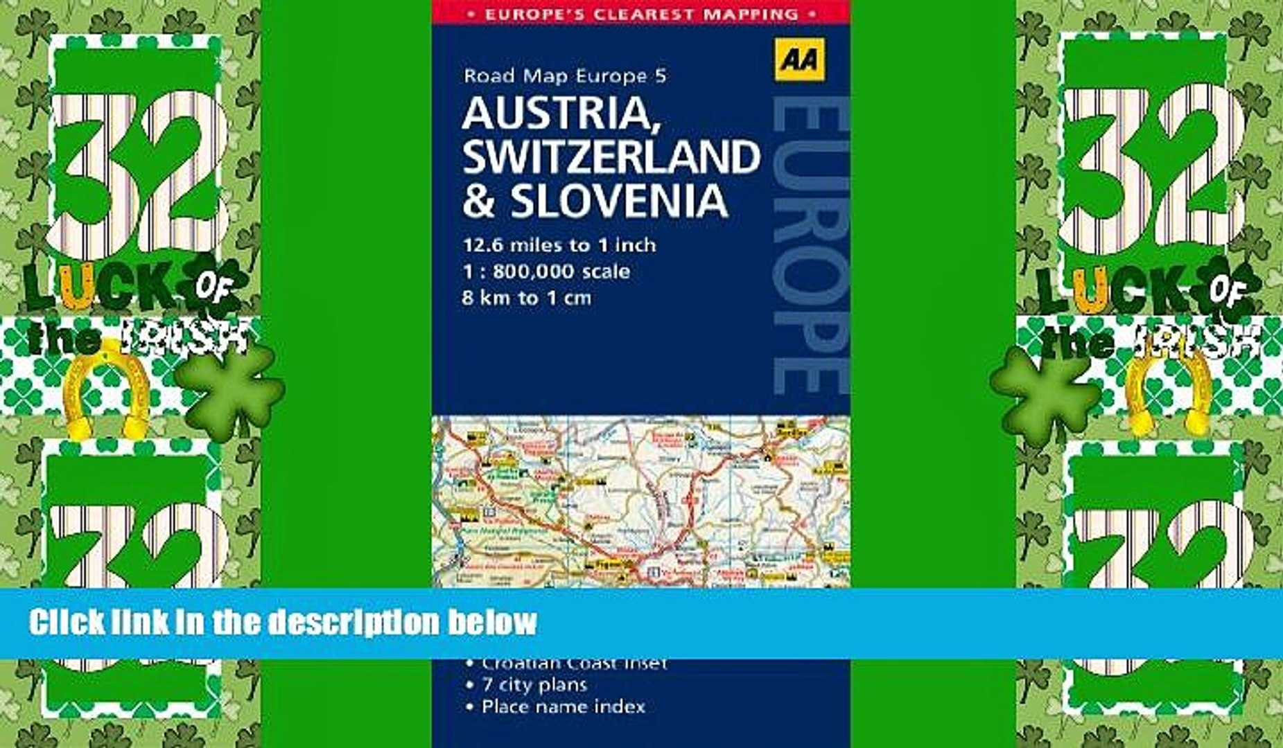 Buy NOW Road Map Austria, Switzerland Slovenia (Road Map Europe) Premium  Ebooks Online Ebooks