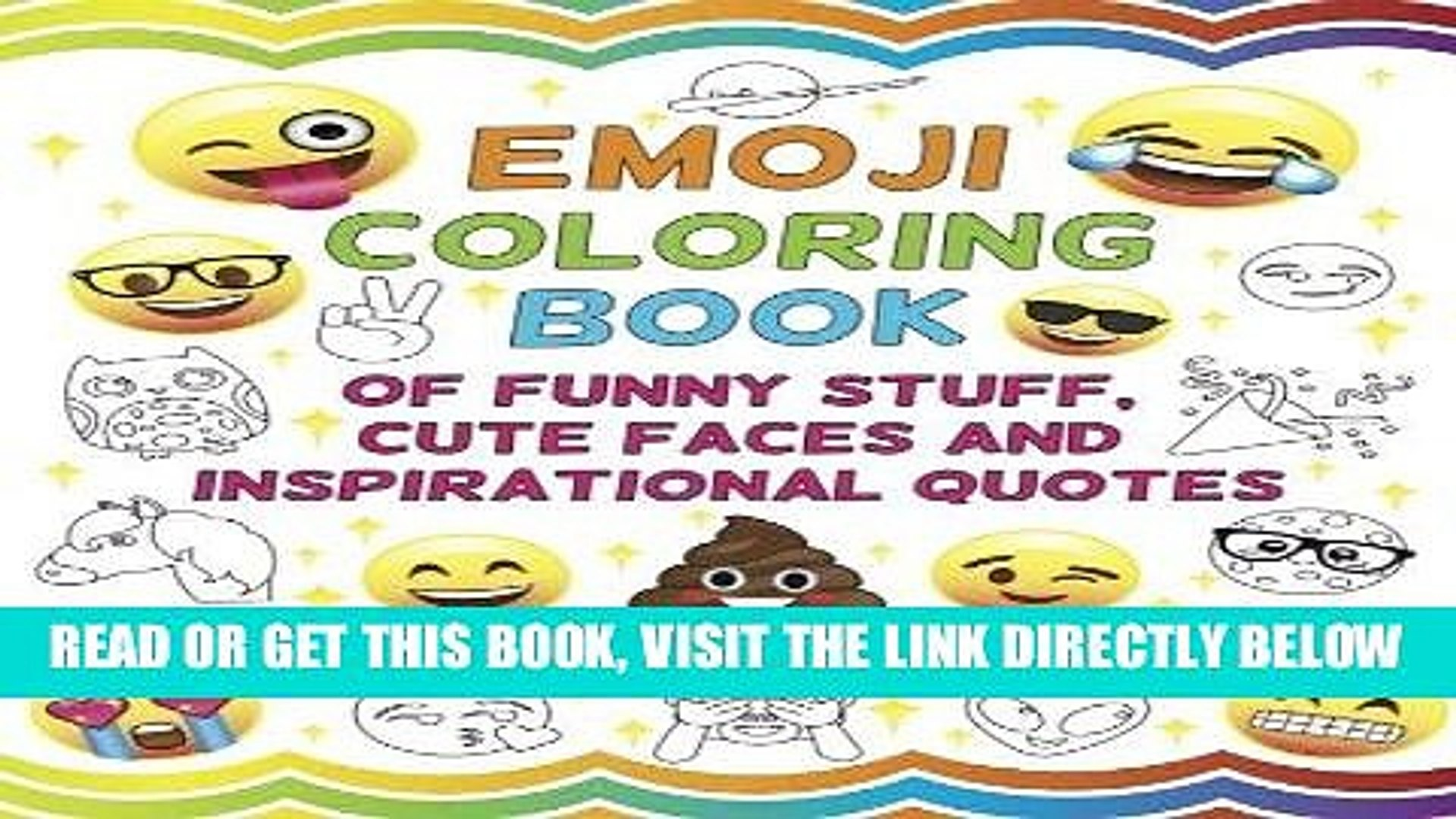 Free Ebook Emoji Coloring Book Of Funny Stuff Cute Faces And Inspirational Quotes 30 Awesome