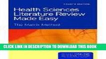 Read Now Health Sciences Literature Review Made Easy (Garrard, Health Sciences Literature Review