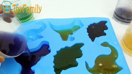 DIY How to Make 'Colors Dinosaur jelly'  Pudding cropping Play for Kid (1)