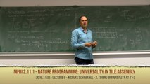 [2016 MPRI 2.11.1] 6. Nature Programming: Universality in Tile Assembly Systems (2016/11/2)