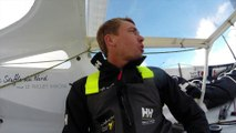 Thomas Ruyant et Tanguy de Lamotte bord à bord / Vendée Globe 2016