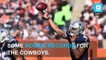 Dak Prescott and Ezekiel Elliott are dominating and setting rookie records