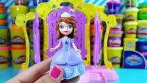 Disney Princesas español ★ Princesas Sofia The First Plastilina Play doh ★ Juguetes de Play doh