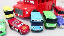 Disney Cars Tayo the Little Bus English Learn Numbers Colors Toy Surprise Toys part1