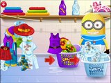 Baby Minion Trys Washing Clothes-Baby Games-Washing Games