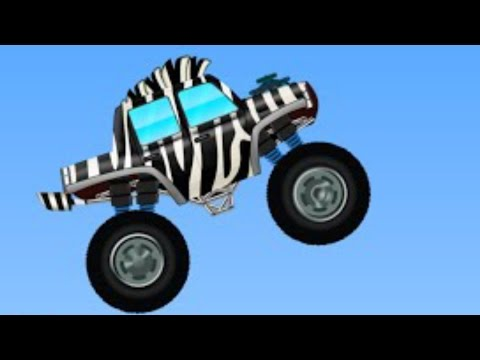 Monster Trucks | Zebra Trucks | Car And Truck