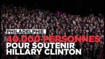 Barack et Michelle Obama, Bruce Springsteen et Bill Clinton soutiennent Hillary Clinton devant 40.000 personnes à Philadelphie