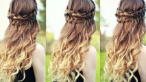 Beautiful Half Down Half Up Braided Hairstyle with curls| Half down hairstyles