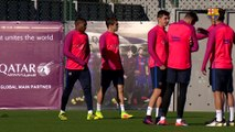FC Barcelona training session: first session without internationals
