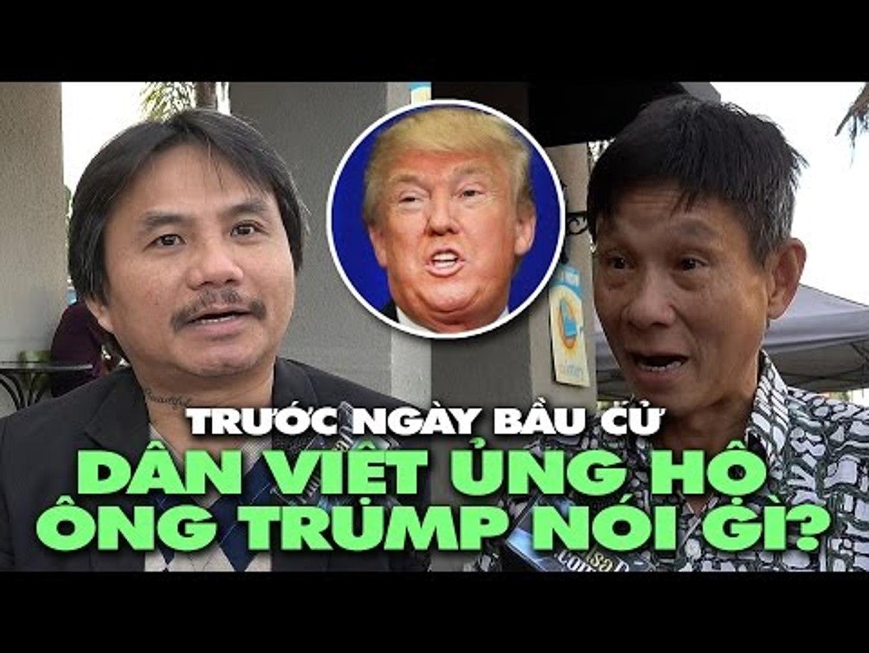 Trước ngày bầu cử, ủng hộ viên gốc Việt của ƯCV Donald Trump nói gì?