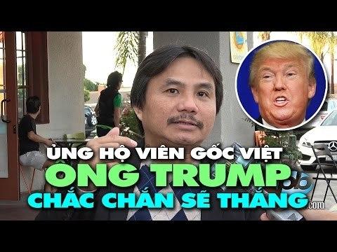 """Ủng hộ viên gốc Việt: """"Chắc chắn ông Trump sẽ thắng!"""""""