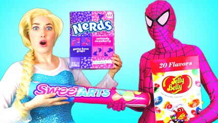 Spiderman & Frozen Elsa HALLOWEEN PRANK! w  Joker Maleficent Spidergirl Anna Toys! Superhero Fun IRL