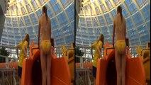 3D VR - Side by Side (SBS) HD - Annoying Orange Water Slide at Aquaticum Aquapark - Google Cardboard