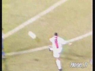 LA COROGNE-PSG 95-96, BUT DE DJORKAEFF