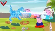 Peppa Pig Superheroe Finger Family★Peppa Pig English Angel Save Family PeppaPig From George Devil#12