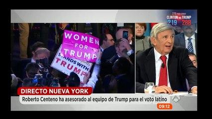 Roberto Centeno en Espejo Público elecciones USA 2016