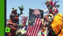 Des chamanes péruviens exécutent un rituel pour faire gagner Hillary Clinton