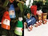 24 Magnifiques décorations de Noël à faire avec des pots en terre cuite! Peindre le Terra Cotta c'est si agréable!