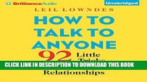 Ebook How to Talk to Anyone: 92 Little Tricks for Big Success in Relationships Free Download