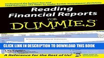 [READ] EBOOK Reading Financial Reports For Dummies (For Dummies (Lifestyles Paperback)) ONLINE